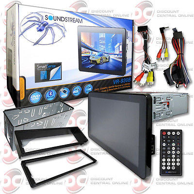 "2014 SOUNDSTREAM CAR 1DIN 9.3"" TOUCHSCREEN DVD CD PLAYER BLUETOOTH + REMOTE"