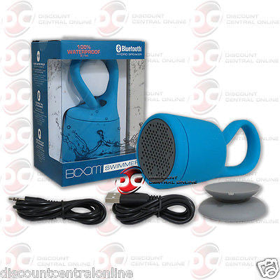 BOOM SWIMMER SMWH-A WATERPROOF PORTABLE BLUETOOTH SPEAKER IN BLUE COLOR