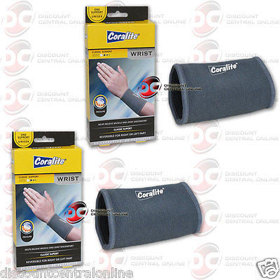 2 x CORALITE REVERSIBLE WRIST SUPPORT HELPS RELIEVE SORE WEAK INJURED WRIST