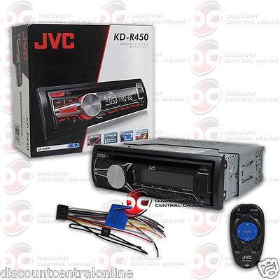 JVC KD-R450 CAR STEREO CD MP3 RECEIVER W/ AUX-IN USB INPUT & IPOD IPHONE CONTROL