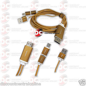 MOBILE LINK MICRO USB 5-PIN 1080P HDMI CABLE FOR MHL ENABLED SMART PHONES