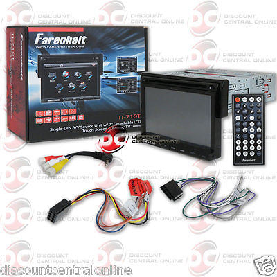 "FARENHEIT TI-710T CAR 1DIN 7"" TOUCHSCREEN LCD CD DVD RECEIVER W/ ANALOG TV TUNER"