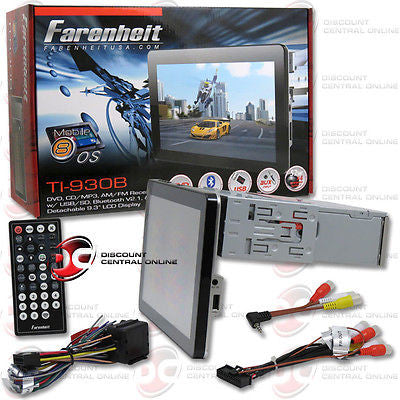 "FARENHEIT TI-930B 9.3"" TOUCHSCREEN CD/DVD RECEIVER WITH BLUETOOTH & IPOD CONTROL"