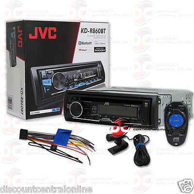 JVC KD-R860BT 1DIN CAR STEREO MP3 CD PLAYER BLUETOOTH W/ AUX USB INPUT + REMOTE