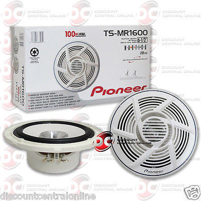 "PIONEER TS-MR1600 6.5"" 6.5 INCH CAR BOAT MARINE AUDIO DUAL CONE SPEAKERS (PAIR)"