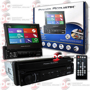 "2014 POWER ACOUSTIK FLIP-UP 7"" TOUCHSCREEN DVD CD USB BLUETOOTH & MOBILE LINK"