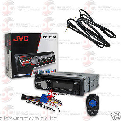 "JVC KD-R450 CAR STEREO CD MP3 STEREO W/ AUX-IN USB INPUT ""FREE"" 3.5mm AUX CABLE"