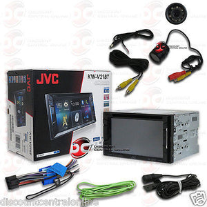 "JVC KW-V21BT CAR 6.2"" TOUCHSCREEN CD DVD BLUETOOTH STEREO ""FREE"" REARVIEW CAMERA"