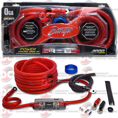 BRAND NEW STINGER SK4201 1/ 0 GAUGE 4000 SERIES POWER AMPLIFIER INSTALLATION KIT