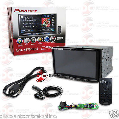 "PIONEER AVH-X5700BHS 7"" DOUBLE DIN TOUCHSCREEN CAR CD DVD STEREO"
