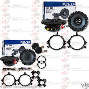 "Alpine SPS-610 6.5"" and SPS-610C 6.5"" Car Audio Speakers"