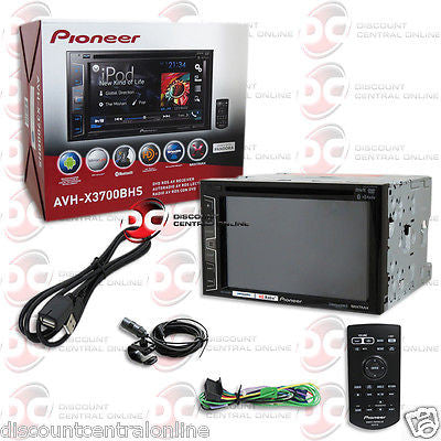 "2015 PIONEER AVH-X3700BHS 2DIN 6.2"" TOUCHSCREEN DVD CD PLAYER HD RADIO BLUETOOTH & PANDORA"