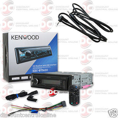 "KENWOOD KDC-BT562U 1DIN CAR AUDIO MP3 CD BLUETOOTH STEREO ""FREE"" 3.5mm AUX CABLE"