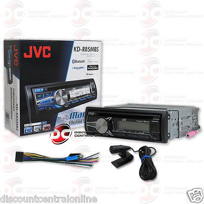 JVC KD-R85MBS CAR BOAT CD MP3 MARINE STEREO W/ BLUETOOTH IPHONE ANDROID CONTROL
