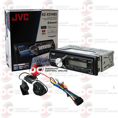 JVC KD-X31MBS CAR BOAT MARINE DIGITAL MEDIA BLUETOOTH STEREO IPOD IPHONE CONTROL