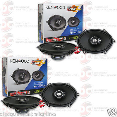 "4 x KENWOOD KFC-C5795PS 5"" x 7"" 3-WAY CAR AUDIO COAXIAL SPEAKERS"