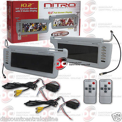 "NITRO CAR 10.2"" TFT SUNVISOR MONITOR NTSC/ PAL WITH 9 MODES DISPLAY (GRAY)"