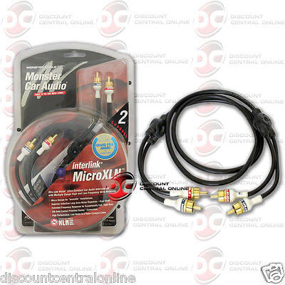 MONSTER CABLE INTERLINK MICROXLN 2-CHANNEL RCA PATCH CABLES 10 FEET