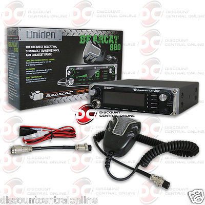 UNIDEN BEARCAT880 40 CHANNEL CB  RADIO WITH NOISE CANCELLING MICROPHONE
