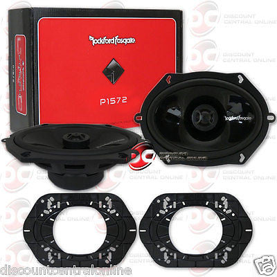 "BRAND NEW ROCKFORD FOSGATE 5x7-INCH 5x7"" 2-WAY CAR AUDIO COAXIAL SPEAKERS PAIR"