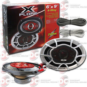 "XPLORE XR-8-6X9 CAR AUDIO 6 x 9"" COAXIAL COAX 3-WAY SPEAKERS (PAIR)"