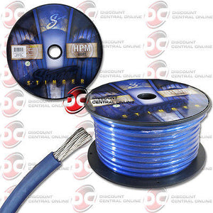 STINGER 4 GAUGE MATTE BLUE HYPER FLEX POWER/ GROUND CABLE 100 FEET