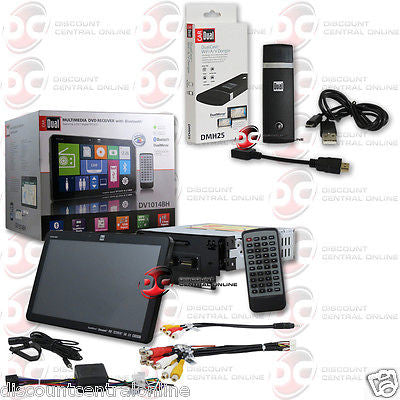 "DUAL DV1014BH CAR DIN 10.1"" TOUCHSCREEN DVD CD STEREO WITH USB/ HDMI WIFI DONGLE"