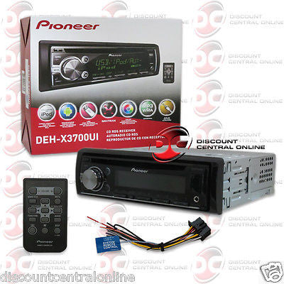 Pioneer DEH-X3700UI 1-Din CAR CD Receiver with MIXTRAX