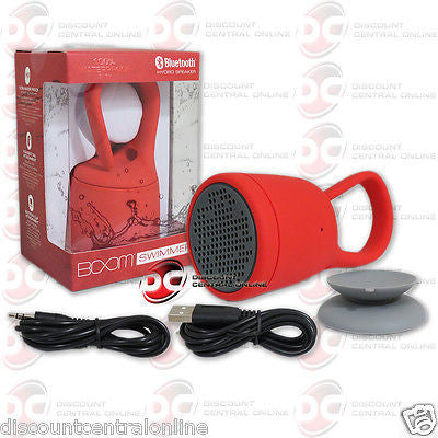 BOOM SWIMMER SMWH-A WATERPROOF PORTABLE BLUETOOTH SPEAKER IN RED COLOR
