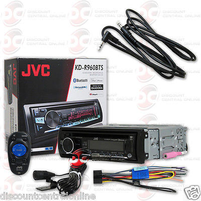 JVC KD-R960BTS DIN CAR AUDIO CD MP3 USB BLUETOOTH STEREO