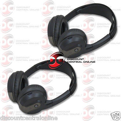 2 x ROSEN AC3614 SINGLE CHANNEL WIRELESS FOLDABLE INFRARED HEADPHONES