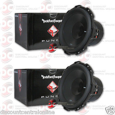 "2 x ROCKFORD FOSGATE P3SD4-12 12"" DUAL 4 OHM CAR AUDIO SHALLOW MOUNT SUBWOOFERS"