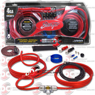 Stinger SK4641 4 gauge 4000 series power amplifier installation kit
