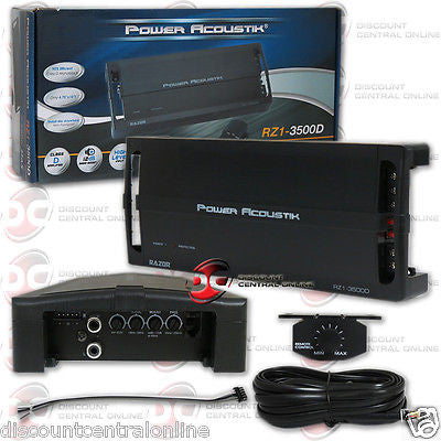 POWER ACOUSTIK RZ1-3500D 1 CHANNEL MONO AMPLIFIER