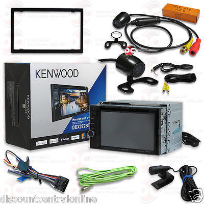 "KENWOOD DDX372BT 6.2"" TOUCHSCREEN CAR DVD BLUETOOTH STEREO FREE 170° REAR CAMERA"
