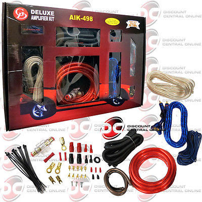 BRAND NEW GD AIK-498 COMPLETE AMPHOOKUP KIT FOR HEADUNITS AND SPEAKERS 1500W