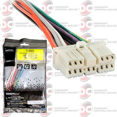 METRA 71-8901 REVERSE WIRING HARNESS FOR SELECT 1990-2007 SUBARU VEHICLES