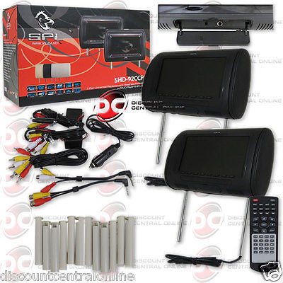 "SPL SHD-92CCP REPLACEMENT HEADREST PACKAGE W/ DVD PLAYER & 9"" LCD MONITOR"