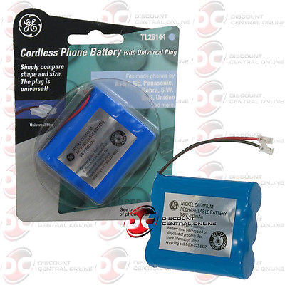 GENERAL ELECTRIC TL26144 CORDLESS PHONE BATTERY W/ UNIVERSAL PLUG GETL26144