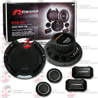 "RENEGADE RX6.2C 6.5"" 2-WAY CAR AUDIO COMPONENT SPEAKER SYSTEM (PAIR)"