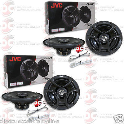 "4 x BRAND NEW JVC 6.5-INCH 6-1/2"" CAR AUDIO 2-WAY COAX SPEAKERS"