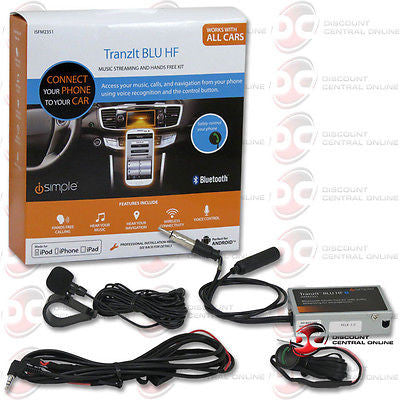 ISIMPLE ISFM2351 HANDS FREE CALLING KIT iPHONE ANDROID & TRANZIT BLU HF MUSIC STREAMING
