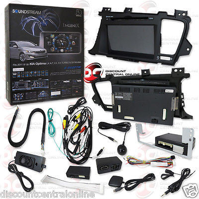 "SOUNDSTREAM INGENIX 8"" OEM UPGRADE GPS & BLUETOOTH FOR 2011-2012 KIA OPTIMA"