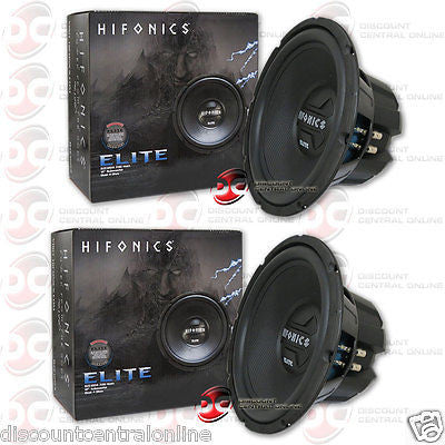 "2 x HIFONICS BZE12D4 12"" DUAL 4-OHM CAR AUDIO SUBWOOFERS 300 WATTS RMS (BZE ELITE SERIES)"