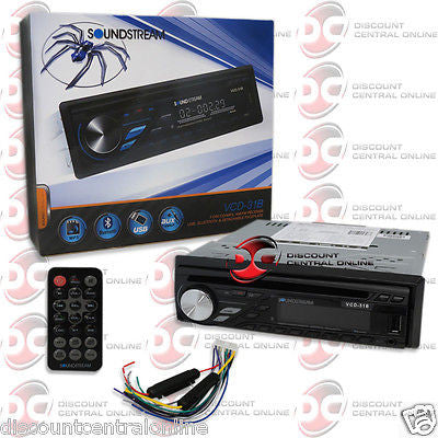 SOUNDSTREAM SINGLE DIN VCD-31B USB CD MP3 CAR RECEIVER STEREO WITH BLUETOOTH AUX
