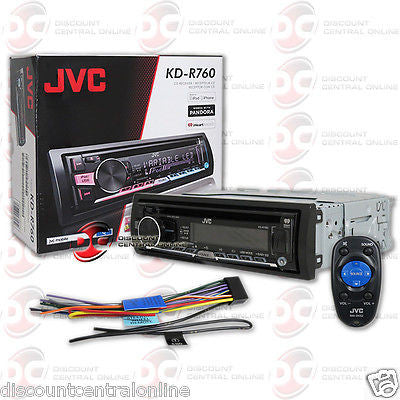 JVC KD-R760 SINGLE DIN CAR AUDIO STEREO CD MP3 RECEIVER WITH AUX & USB INPUT