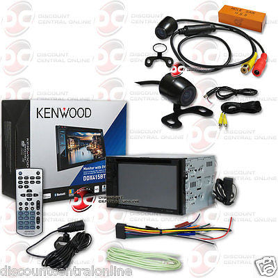 "KENWOOD 2DIN DDX415BT 6.2"" TOUCH LCD CAR BLUETOOTH STEREO FREE 170° REAR CAMERA"