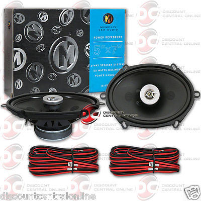 "BRAND NEW MEMPHIS 5 x 7-INCH 5 x 7"" CAR AUDIO 2-WAY SPEAKERS (PAIR)"