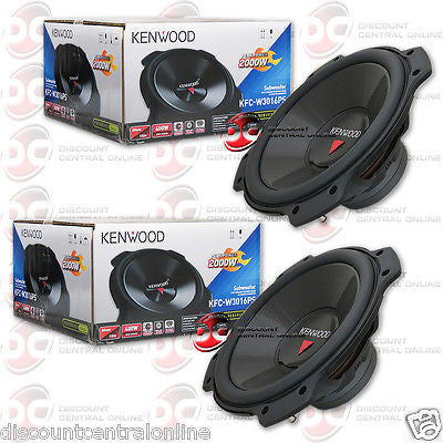 "2 x KENWOOD KFC-W3016PS 12"" SINGLE 4-OHM CAR AUDIO SUB WOOFERS"