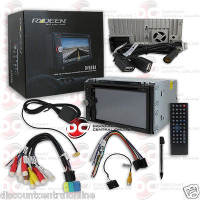 "RYDEEN DV638A 6.2"" CAR 2 DIN TOUCHSCREEN CD DVD STEREO RECEIVER W/ BLUETOOTH"